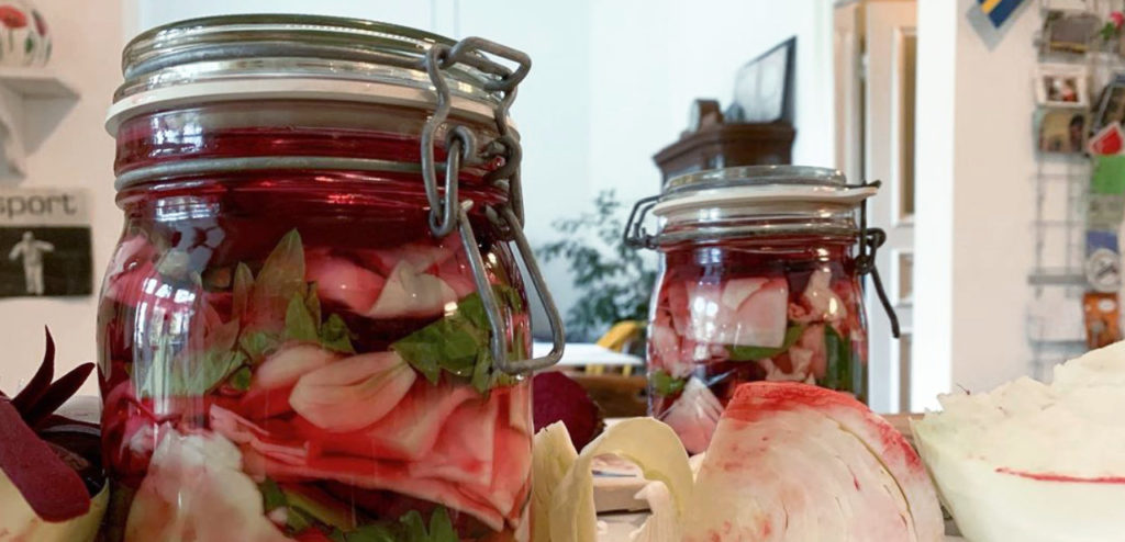 Mzhave, Georgian Cabbage fermented with Beets