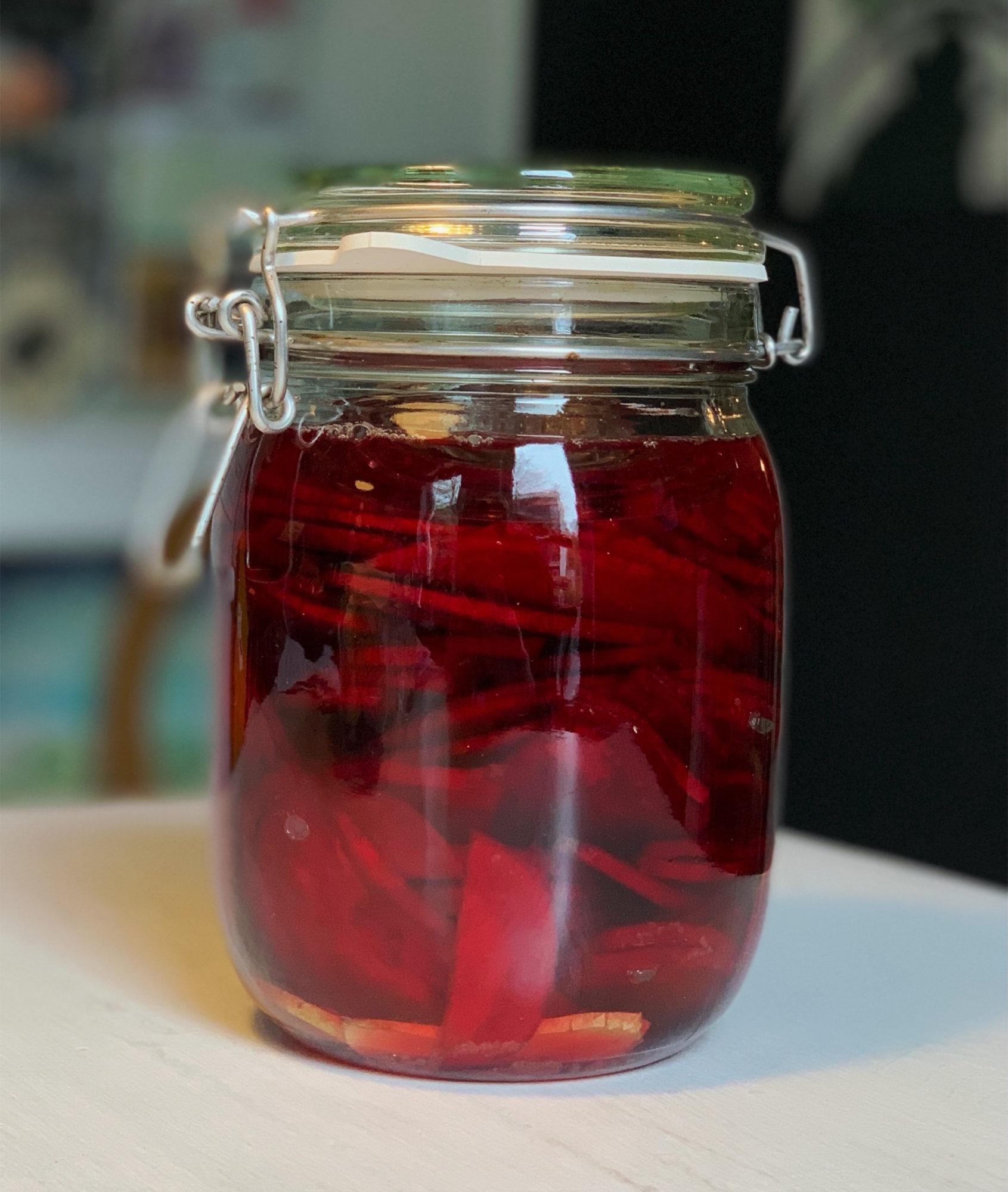 fermentierte rote Bete mit Vanille und Ingwer